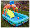 Large rectangular multi-family baby child infant inflatable swimming pool paddling pool fishing pond