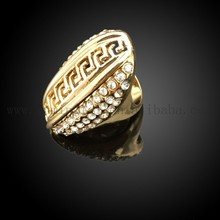 18 karat rose gold plated zinc alloy ring with crystal setting