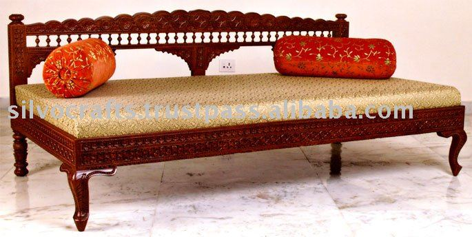 Carved living room furniture buy carved sofa set carved for Diwan models india