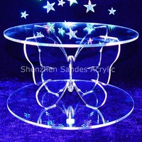 Butter Support Acrylic Display Model Cake Stand Lucite Cake Stand for 10 Inches Cake Acrylic Buttercream Stand