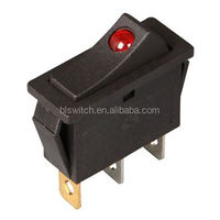 2pin Round body lighted 120v rocker switch