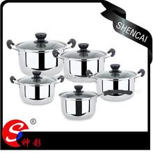 Mutilfunctionl Stainless Steel Cookware set /Stock Pot Set/Milk Pot With Bakelite handle and Glass Lid
