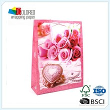 valentine's element printing paper bag happy design gift bag