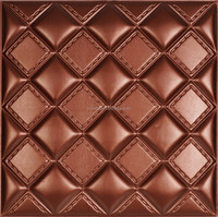 2015 New 40*40 Square Design Embossed Leather Interior Decorative Wall Panel