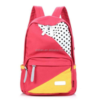 Fashion Bags for High School Girls Red School Bag 600D Polyester Satchel SJ139