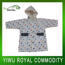 Kids Plastic Polyester Waterproof Raincoat