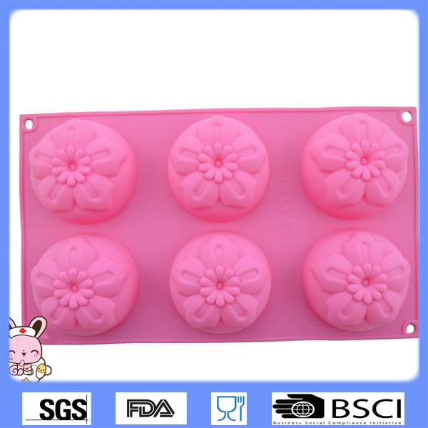 الوردي سيليكون قالب الكعك/ وازم تزيين الكعكة