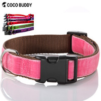 2015 Velvet Pet Dog Collar & Leash Personalized Embroidered Dog's Name And Number