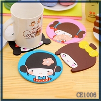 bulk wholesale cheapest cartoon design silicone drink coasters mixed colors sale