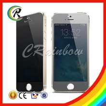 9H 0.33mm electric glass privacy for iphone 5 privacy screen protector