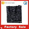 High Quality Wholesale Blank Black Canvas Bags