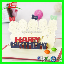N778 Happy Birthday Handmade Decoration Greeting Card