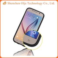 For Samsung galaxy S6 rubber silicone TPU bumper PC back Case