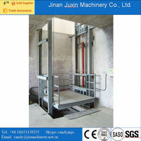 Low price hydraulic cargo lift platform, Guide rail goods lift for sale
