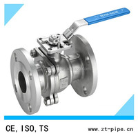 Stainless steel 2-PC dn150 flange ball valve