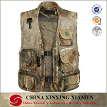 polymide cotton mesh netting fabric mesh netting fabric camouflage fishing vest with lots of pockets