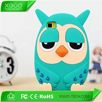 cute 3D silicone animal case for xiaomi mi3