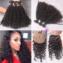No Shedding No Mix No Tangle Brazilian Virgin Hair Bundles Deep Curly