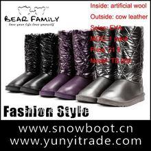 2012 waman Winter boot Jacket fabric most popular desinger snow boots