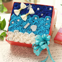 Christmas flower chocolate gift packaging box coated paper made