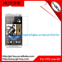 HUYSHE best tempered glass screen protector for htc one m7 anti-scratch protective film for htc one m7