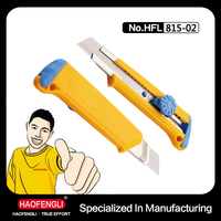 HFL-Z815-02 18MM ABS Thick Hand Utility Cutting Knife with Lock Function Screw
