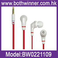 3.5mm Flat cable stereo eraphone