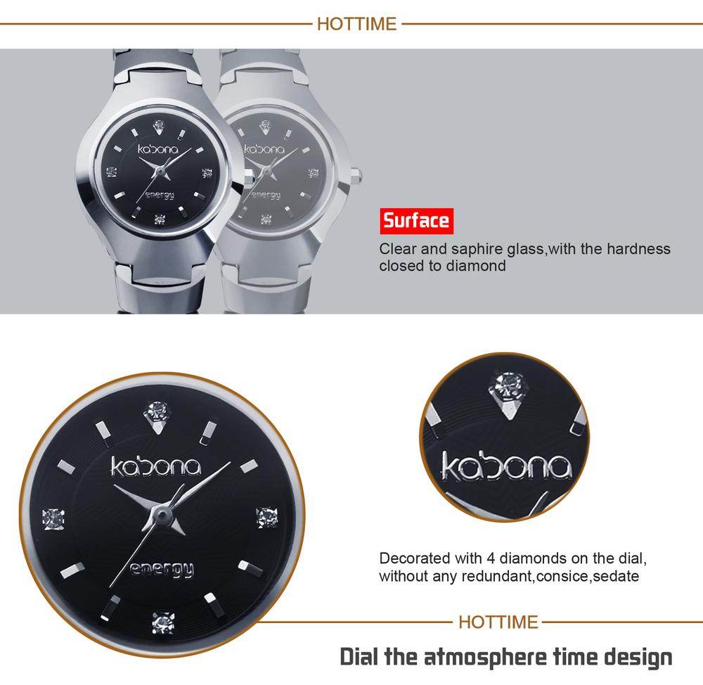 2015 Top Sale Latest Kabona 3 in 1 Bio Elements Energy Tungsten Fashion Lady Watch