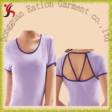 Ms. yoga clothes back pierced design cotton