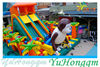 2014 Giant Jungle Monkey Inflatable Slide with Obstacle Fun City for Sale