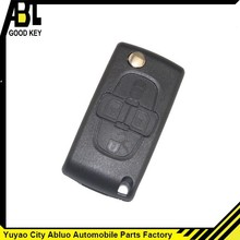 New 4 Buttons Remote Flip Key Shell Case Fob For PEUGEOT car key