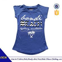 100% cotton custom printed tshirt for ladies