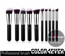 Wholesale Best selling private label 10pcs kabuki makeup brush set case makeup