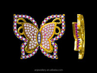 Yellow gold butterfly pendant in matrix 3d jewelry designs