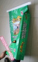 custom 20kg plastic woven pp animal feed bag,rice bag with side gussets