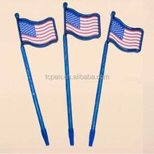 promo lanyard flag pen,Scroll banner flag pen,plastic banner ball pen