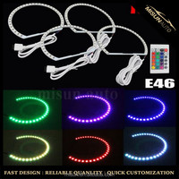 Multi Color 5050 RGB angel eye led ring 146mm for BMW E36 E38 E39 E46 Compact