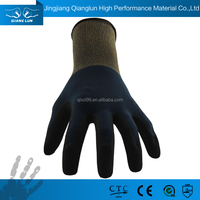 Dirty resistant nitrile palm coated miners safety work gloves