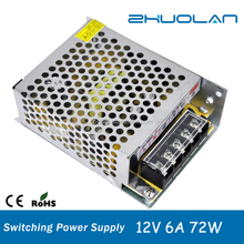 AC 85~265V to DC 12V 6A 72W Mini Size Universal Regulated Switching Power Supply