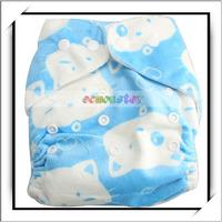 Wholesale Prefold Cloth Diapers Blue Cat