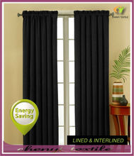 New popular curtain design for keep the warmer in USA market