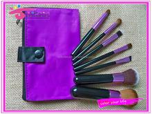 synthetic makeup brush set black makeup brush travel cosmetic brush kit with fashionable bag