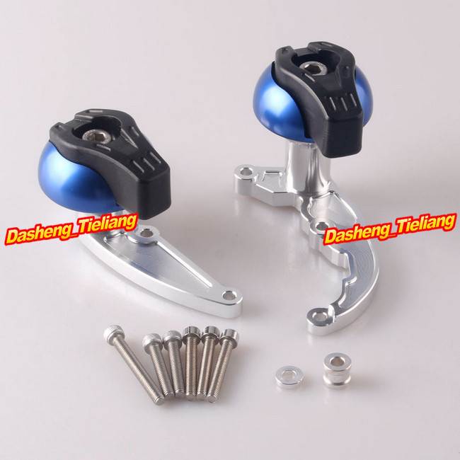 Stator Cover Slider Frame Crash Protector For Honda CBR 600RR 2007 2008 & CB600 Hornet 2008-2010, Blue + Silver