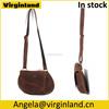 5001 Vintage Mini Brown Genuine Leather Handbag Crossbody Satchel Shoulder Bag for Girls