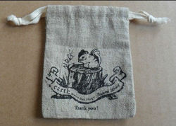 2013 high fanshionable jute wine tote bag