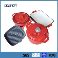 4 pcs enameled cast iron trade assurance kitchenware