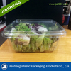 large clear disposable plastic vegetable container with clear lid and clear plastic food disposable food container