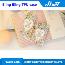soft Heart style fashion cell phone case bling bling case for iPhone 6 for iPhone 6 plus