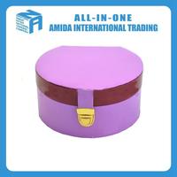 Mini purple double box,Travel standby PU leather jewelry box