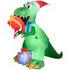 6.5ft inflatable christmas Dinosaur lighting for christmas Eve